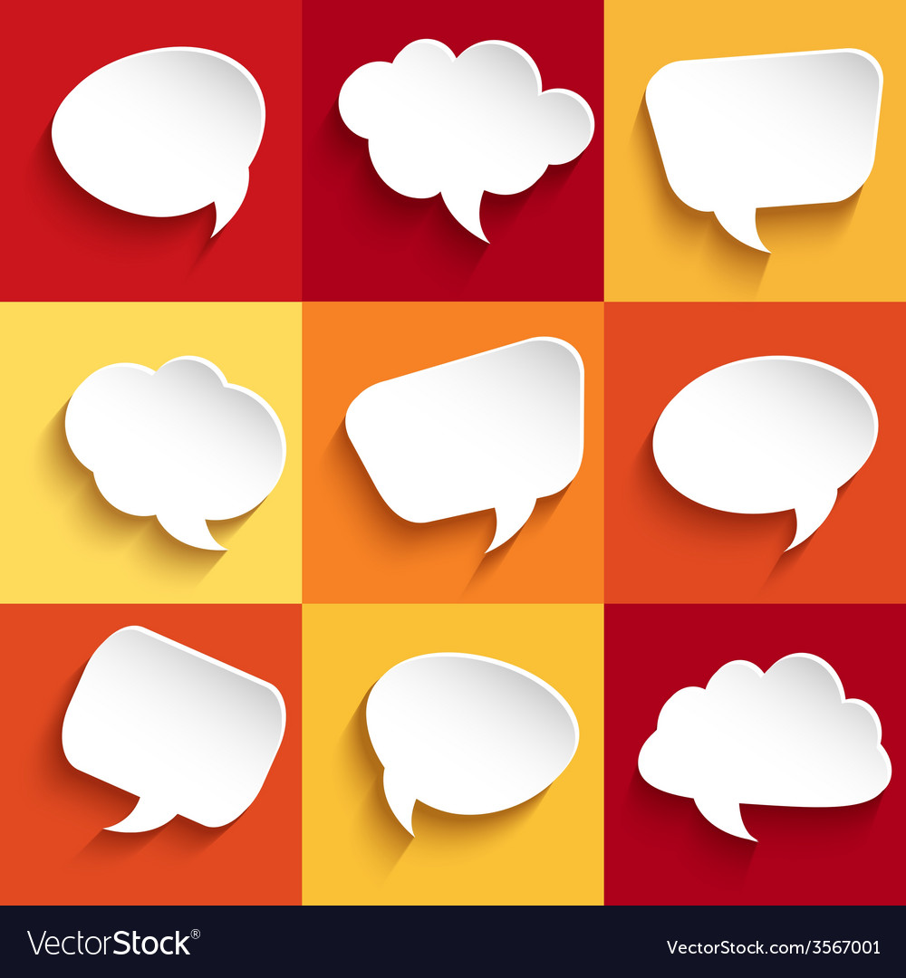 Set of speech bubbles vector | Price: 1 Credit (USD $1)