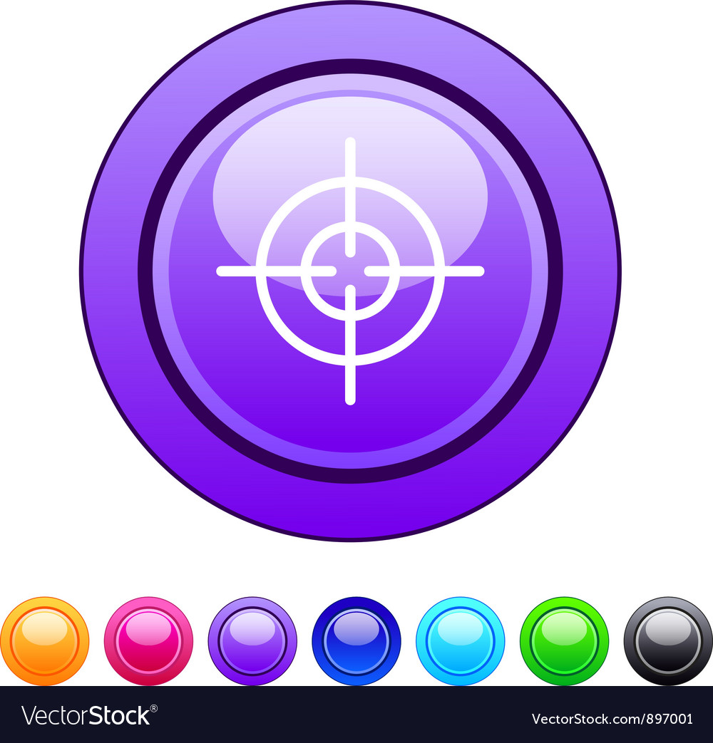 Sight circle button vector | Price: 1 Credit (USD $1)