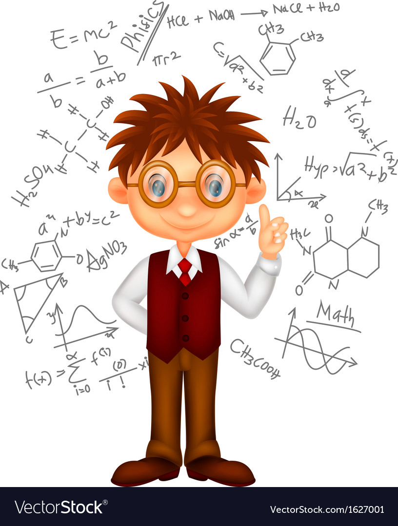 Smart boy cartoon vector | Price: 1 Credit (USD $1)