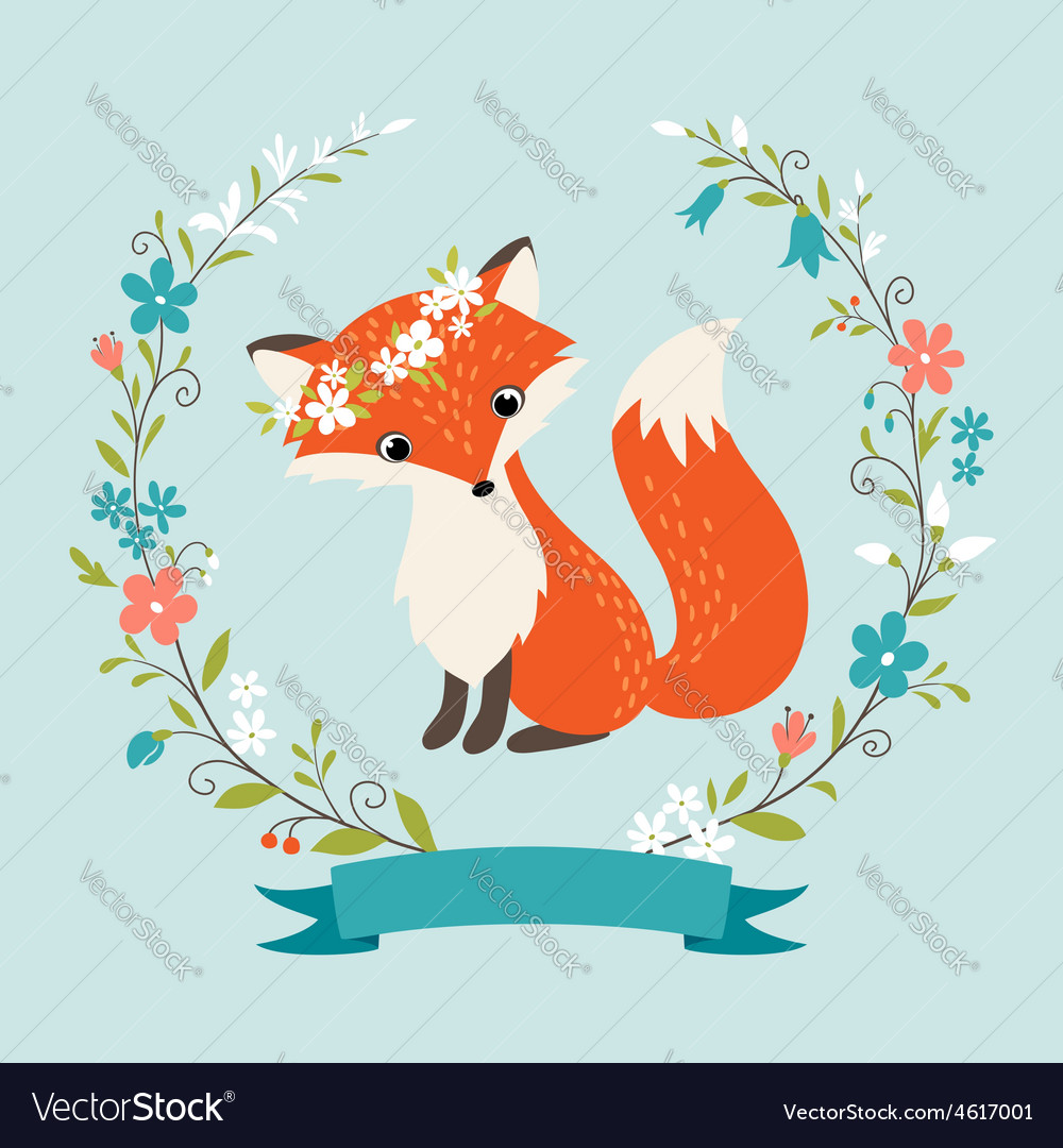 Summer fox vector | Price: 1 Credit (USD $1)