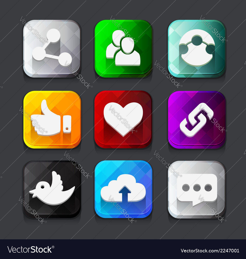 Web icons collection vector | Price: 1 Credit (USD $1)