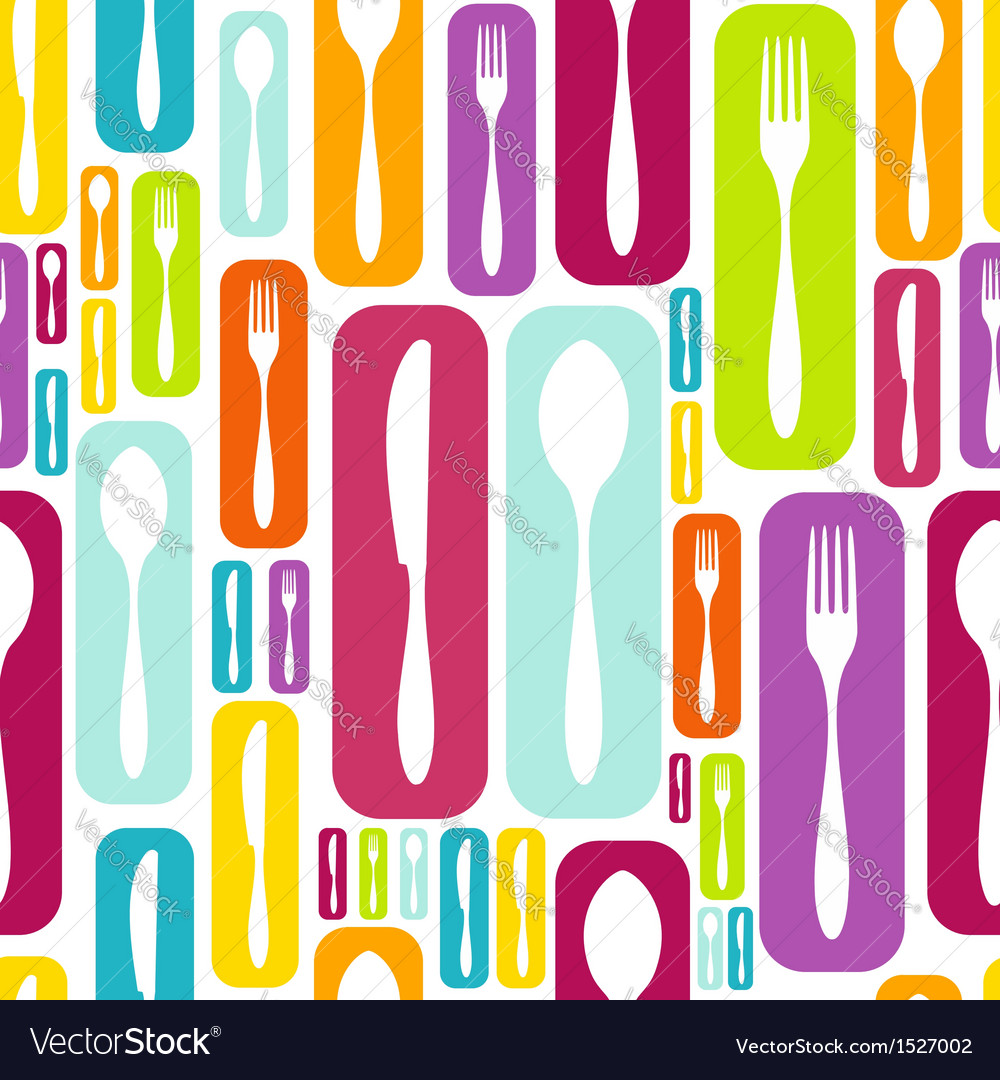 Cutlery silhouette icons pattern background vector | Price: 1 Credit (USD $1)