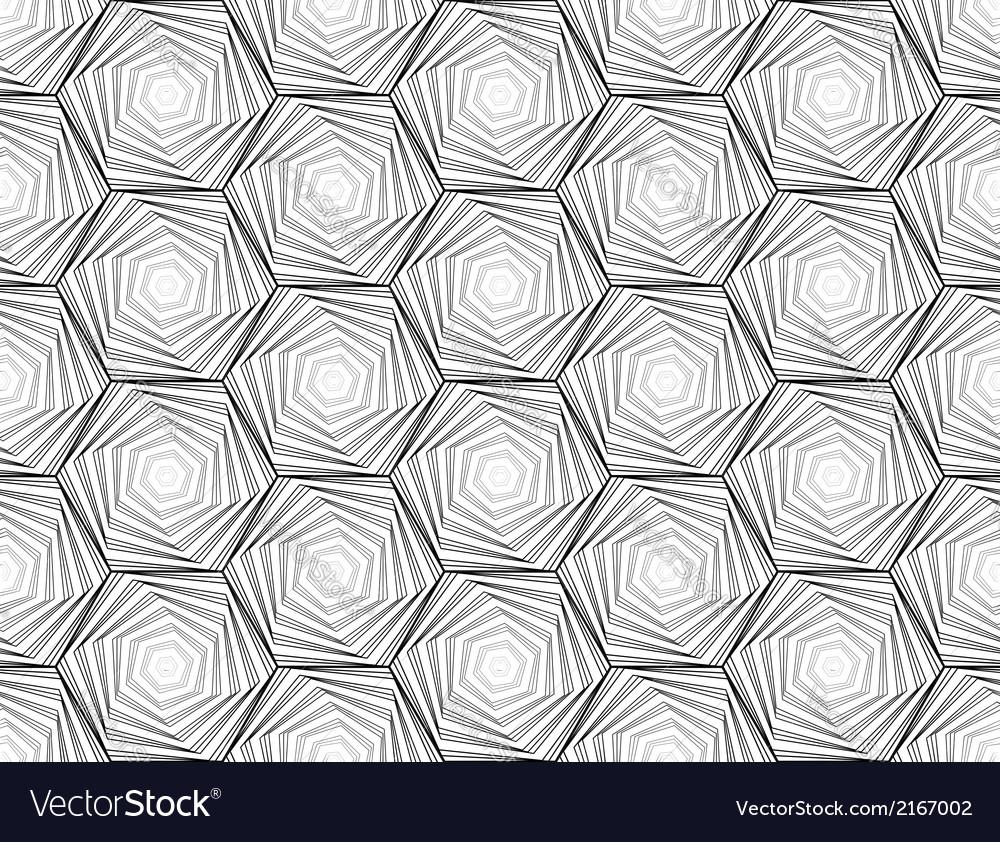 Design seamless monochrome hexagon pattern vector | Price: 1 Credit (USD $1)
