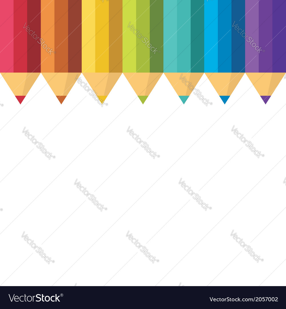 Lots of colored pencils vector | Price: 1 Credit (USD $1)