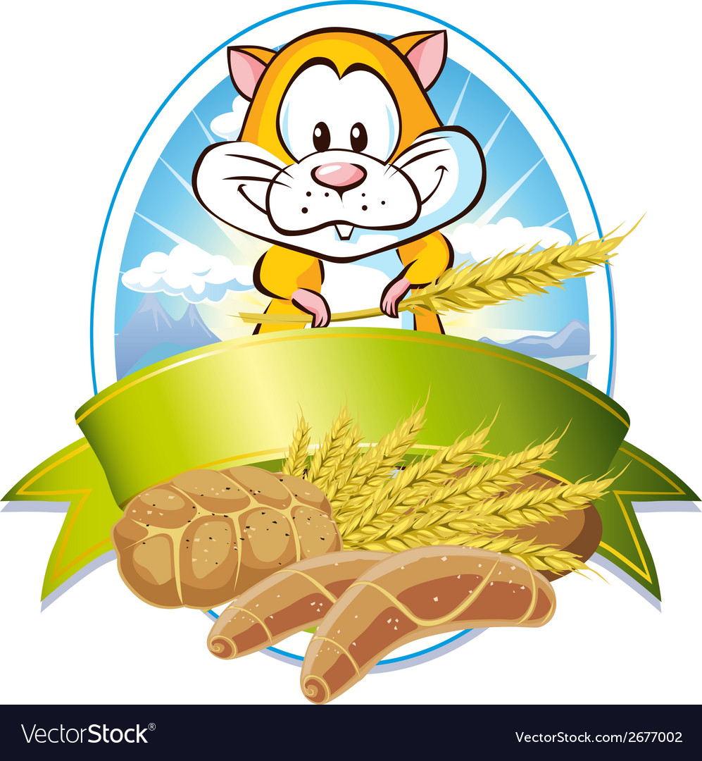 Natural cereal label vector | Price: 1 Credit (USD $1)