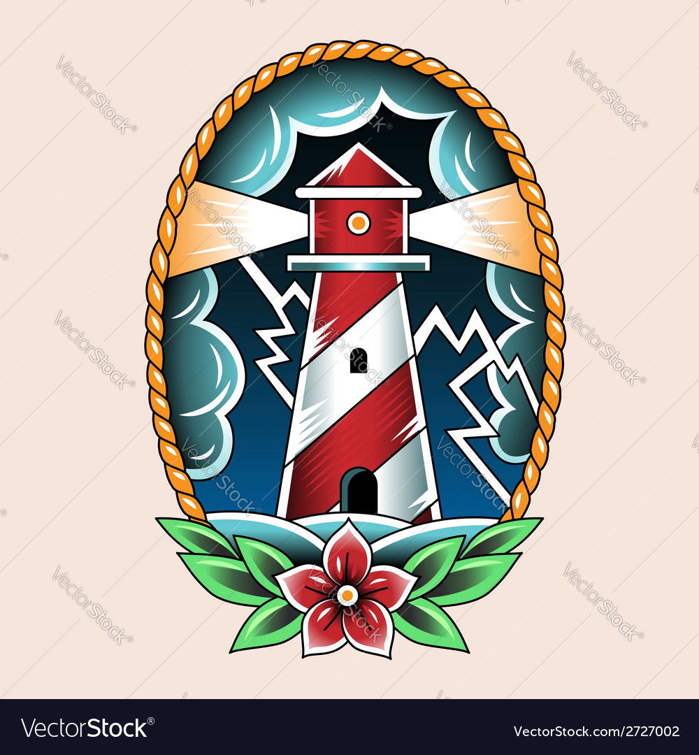Tattoo beacon vector | Price: 1 Credit (USD $1)