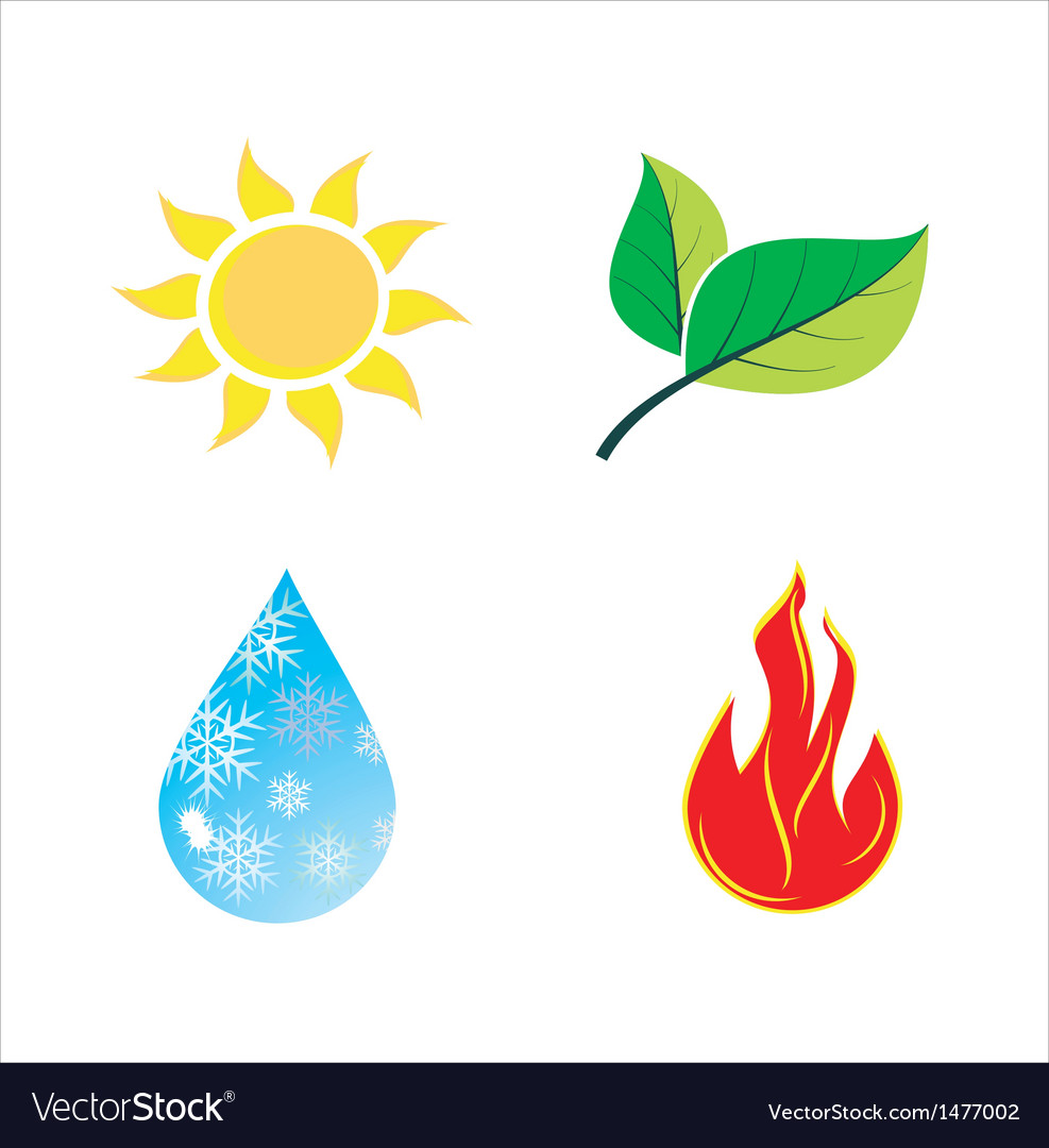Various nature icons vector | Price: 1 Credit (USD $1)