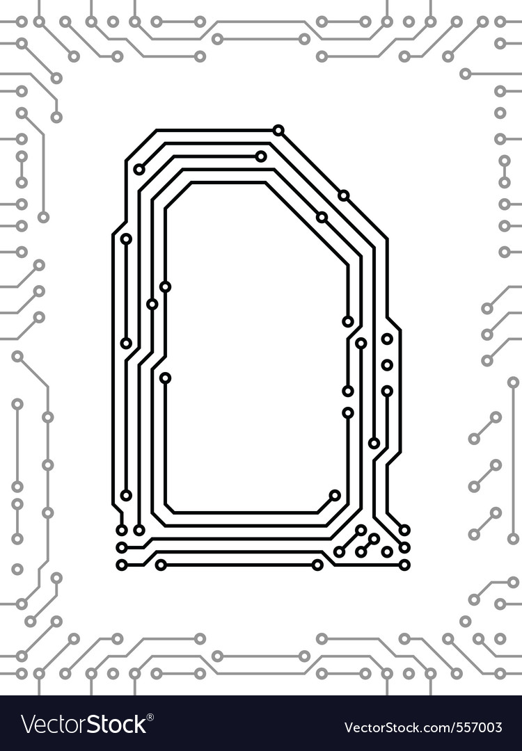 Alphabet of printed circuit boards vector | Price: 1 Credit (USD $1)