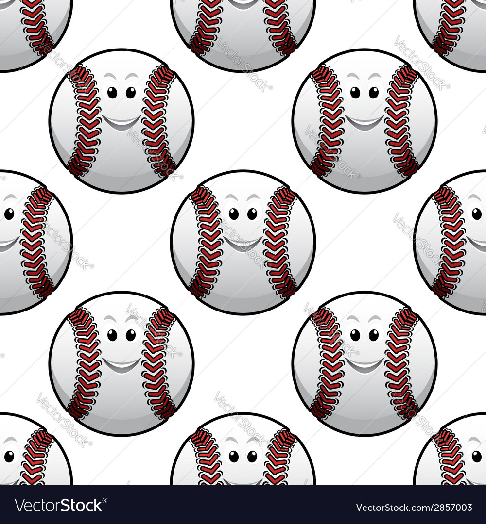 Baseball seamless pattern vector | Price: 1 Credit (USD $1)