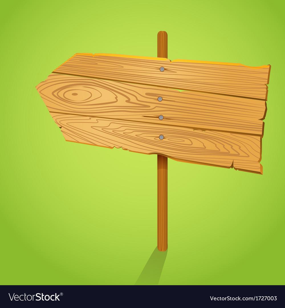 Blank wood arrow informer vector | Price: 1 Credit (USD $1)