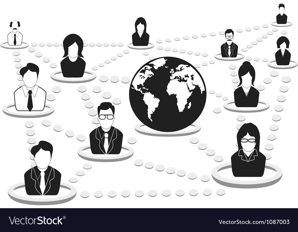 Business people network vector | Price: 1 Credit (USD $1)