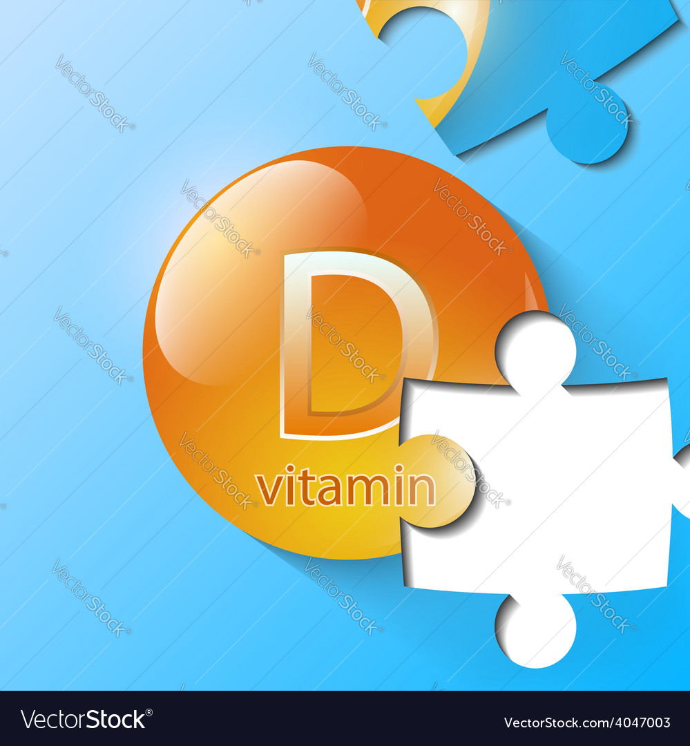 Capsule with vitamin consists of puzzles vector | Price: 1 Credit (USD $1)