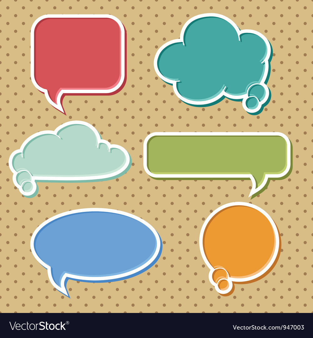 Colorful speech bubbles set vector | Price: 1 Credit (USD $1)
