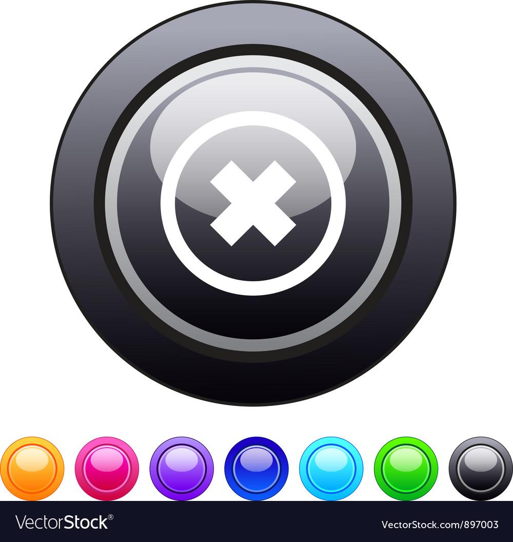 Delete cross circle button vector | Price: 1 Credit (USD $1)