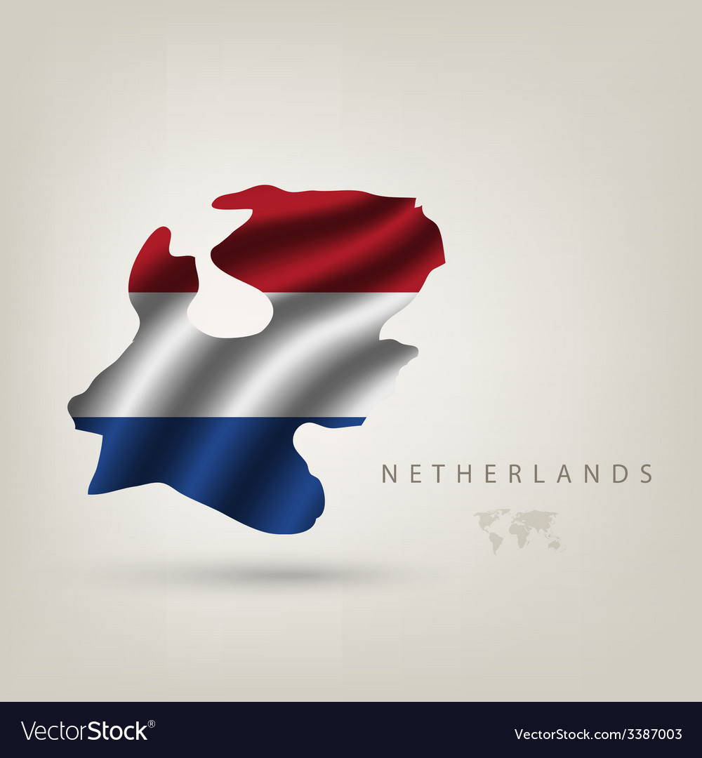 Flag of holland as a country vector | Price: 3 Credit (USD $3)