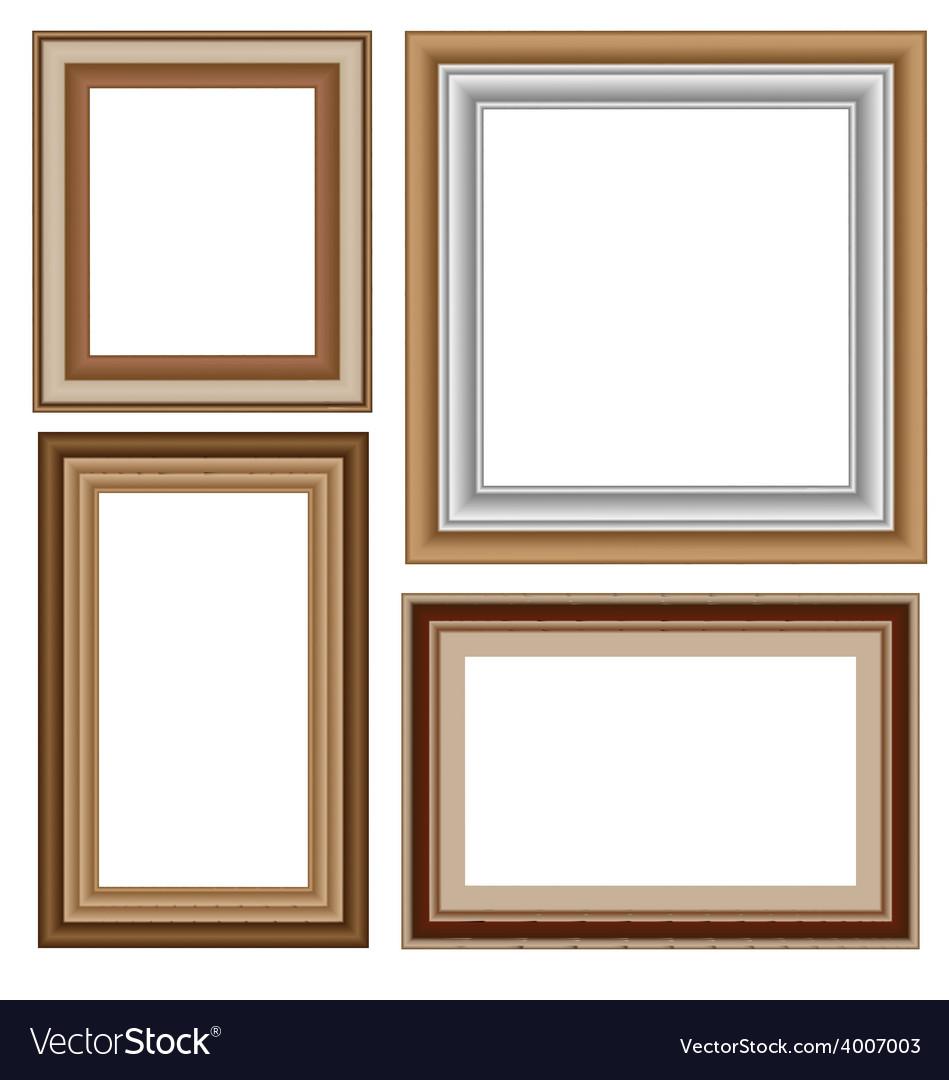 Four wooden frameworks vector | Price: 1 Credit (USD $1)