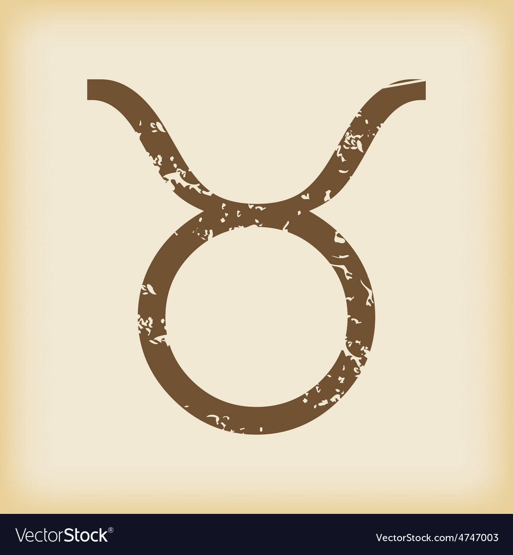 Grungy taurus icon vector | Price: 1 Credit (USD $1)