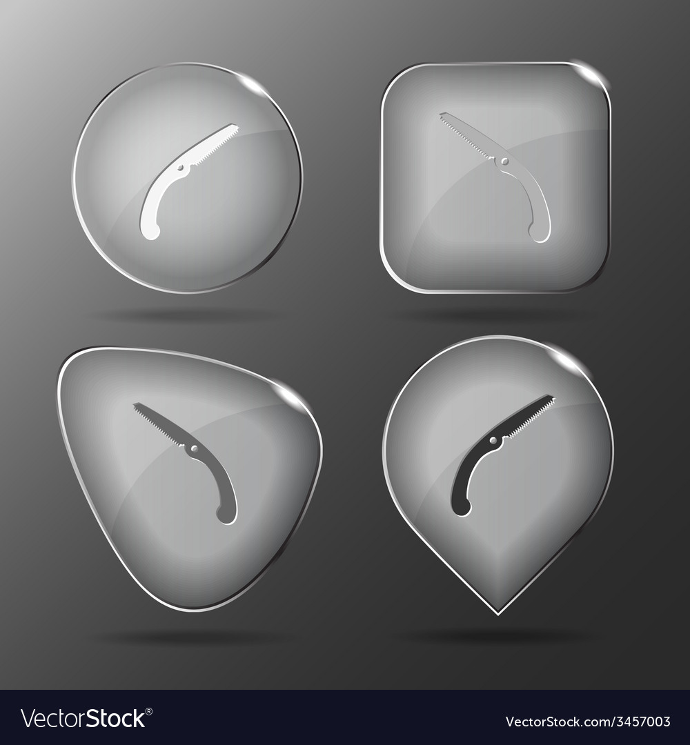 Hand saw glass buttons vector | Price: 1 Credit (USD $1)