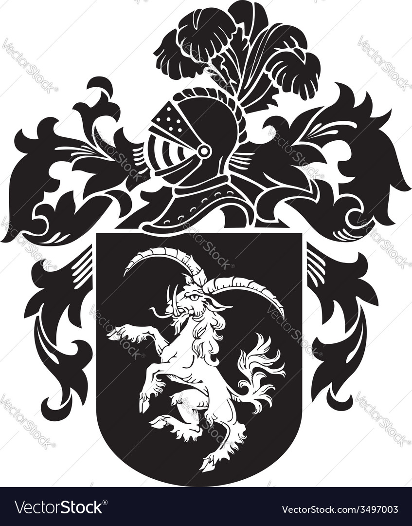 Heraldic silhouette no33 vector | Price: 1 Credit (USD $1)