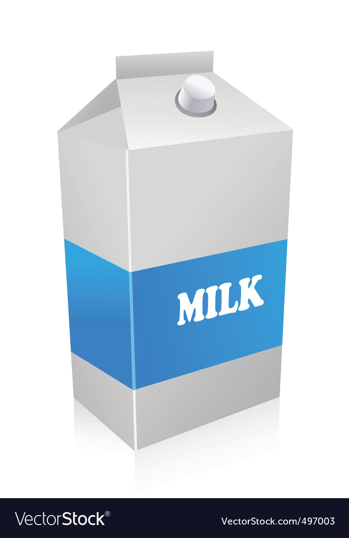 Milk carton vector | Price: 1 Credit (USD $1)