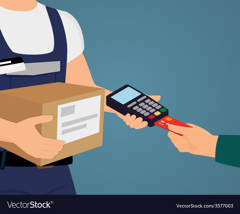 Payment by credit card vector | Price: 1 Credit (USD $1)