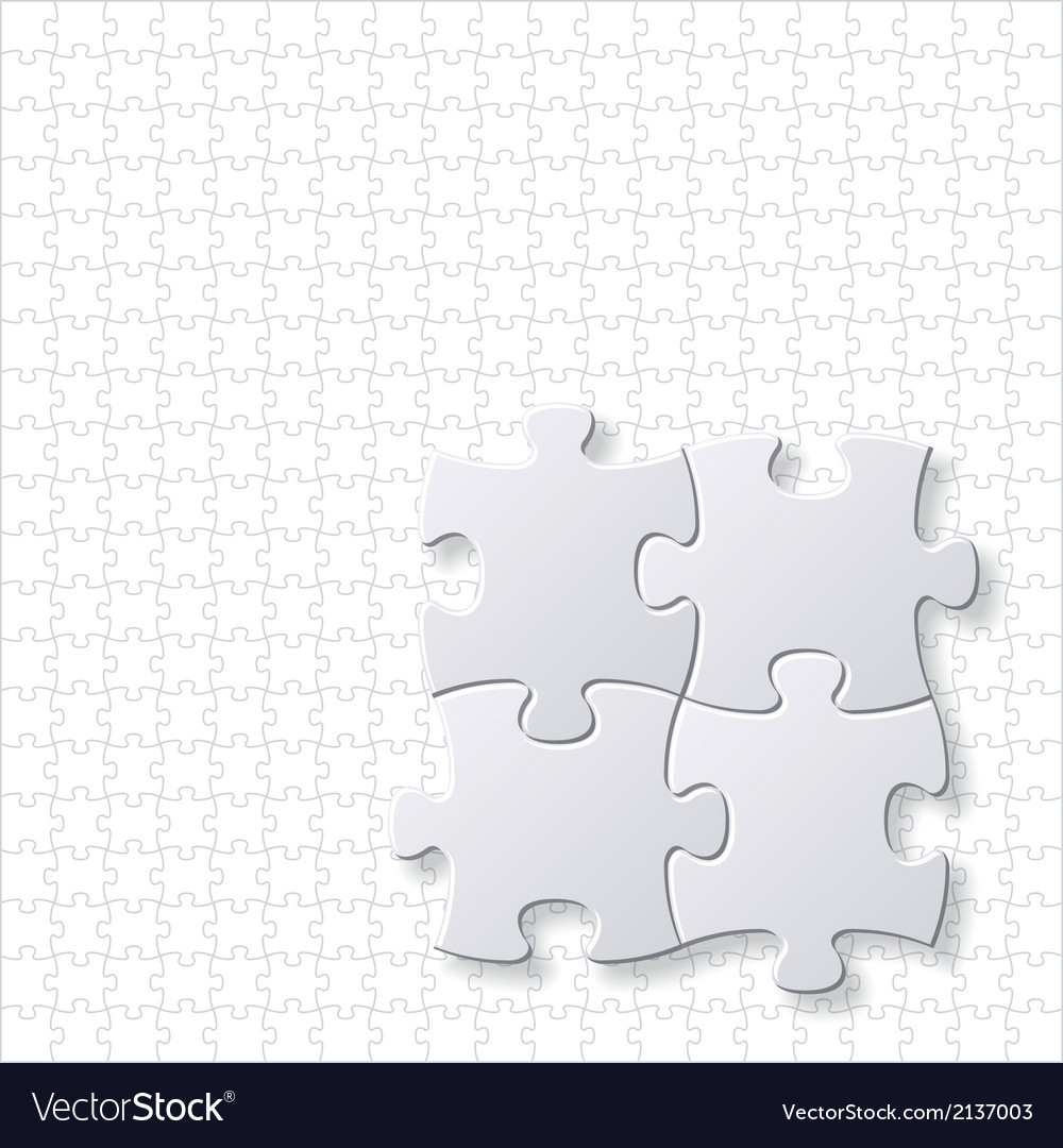 Puzzles blank template vector | Price: 1 Credit (USD $1)