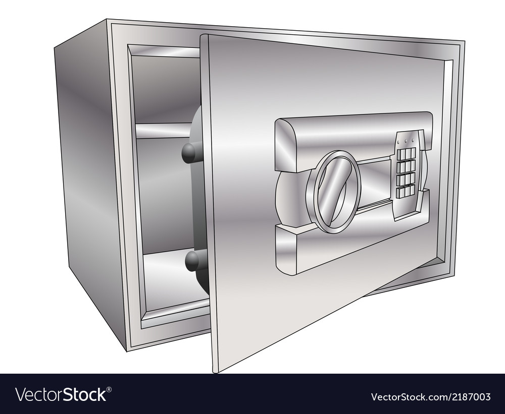 Safe open vector | Price: 1 Credit (USD $1)