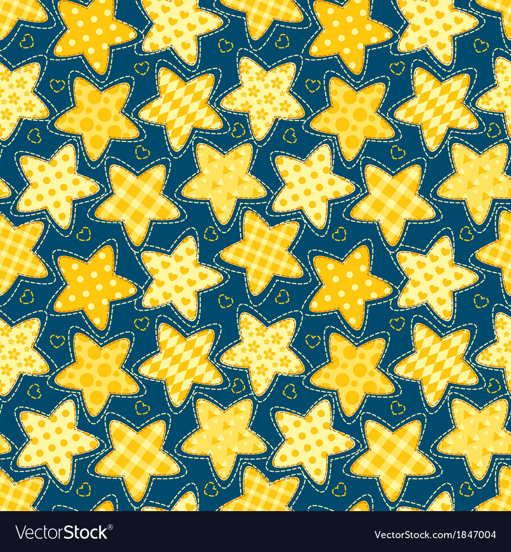 Children seamless pattern with stars vector | Price: 1 Credit (USD $1)