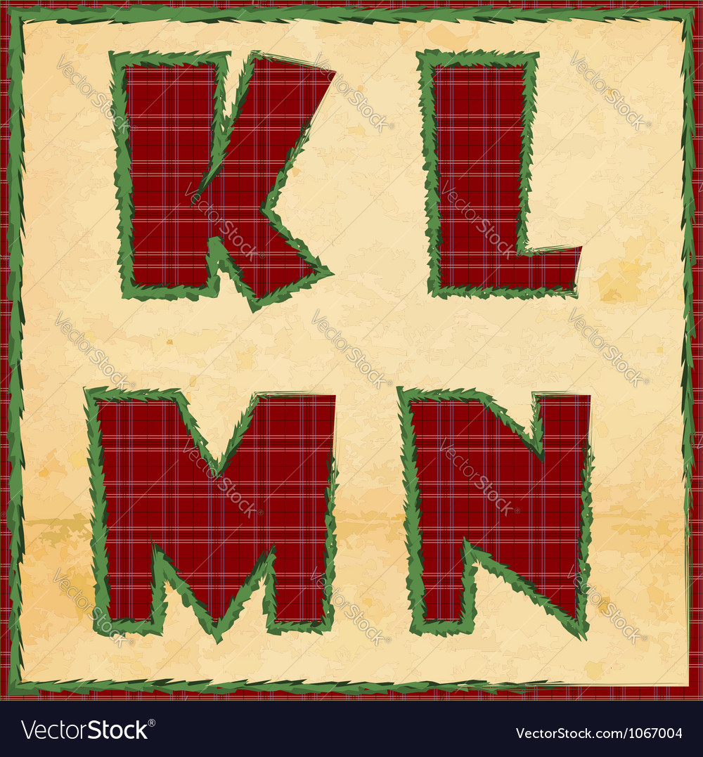 Christmas letters klmn vector | Price: 1 Credit (USD $1)