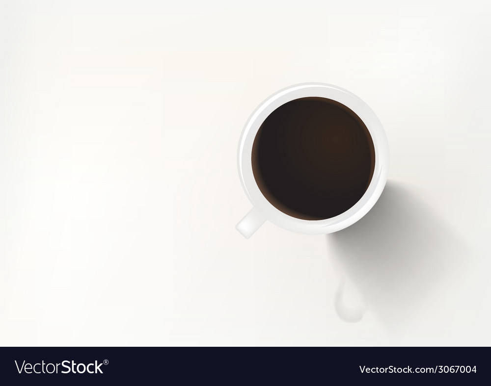 Coffee in white cup top vector | Price: 1 Credit (USD $1)