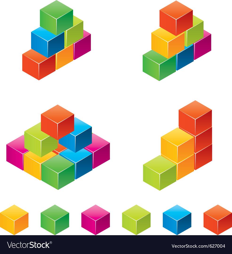 Colourful childrens blocks vector | Price: 1 Credit (USD $1)