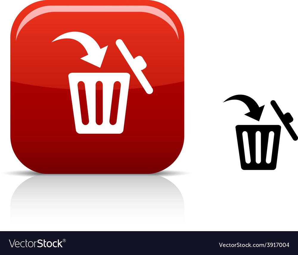 Delete icon vector | Price: 1 Credit (USD $1)
