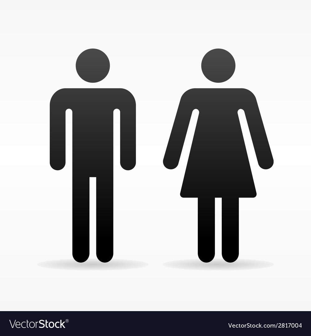 Female and male symbol vector | Price: 1 Credit (USD $1)