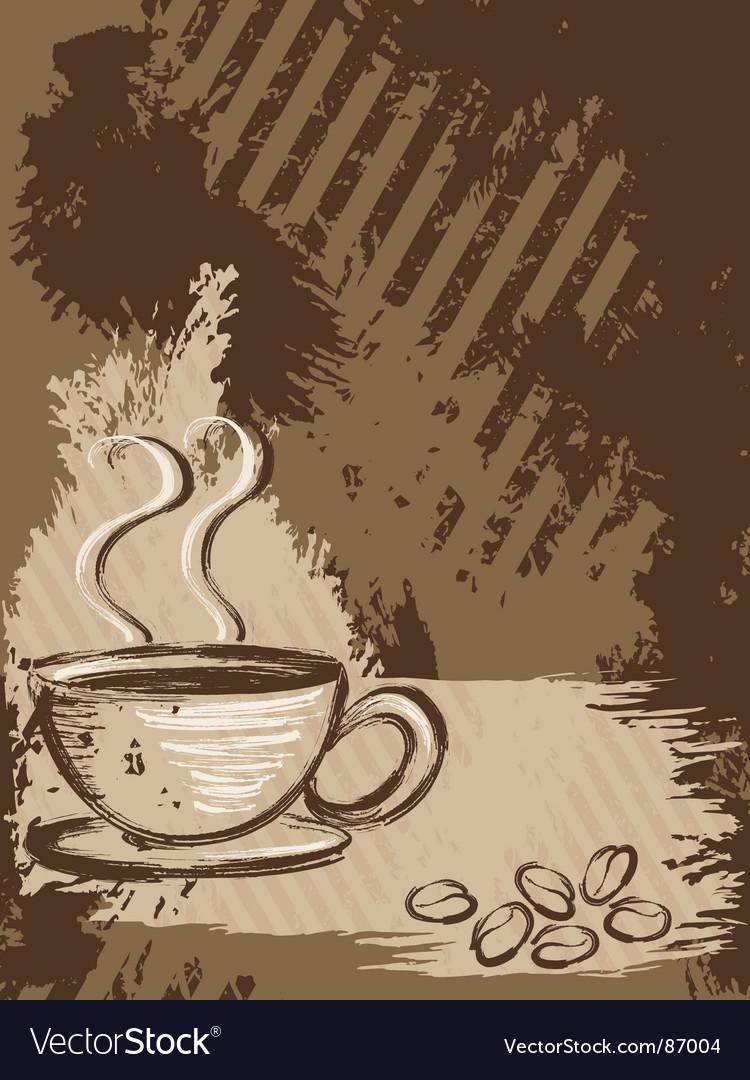 Grunge coffee background vertical vector   Price: 1 Credit (USD $1)