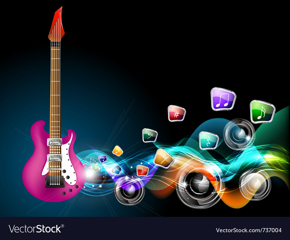 Guitar music vector | Price: 5 Credit (USD $5)