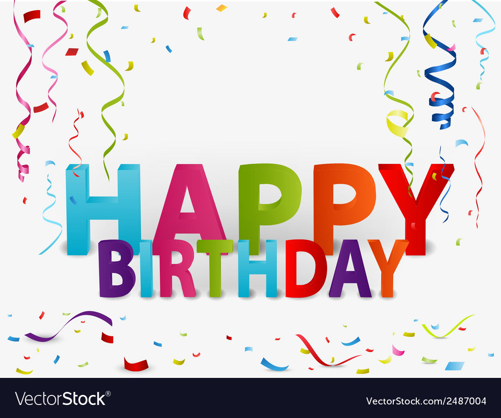 Happy birthday greeting background vector | Price: 1 Credit (USD $1)