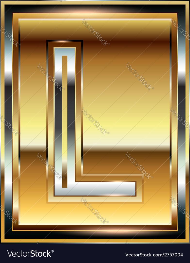 Ingot font letter l vector | Price: 1 Credit (USD $1)