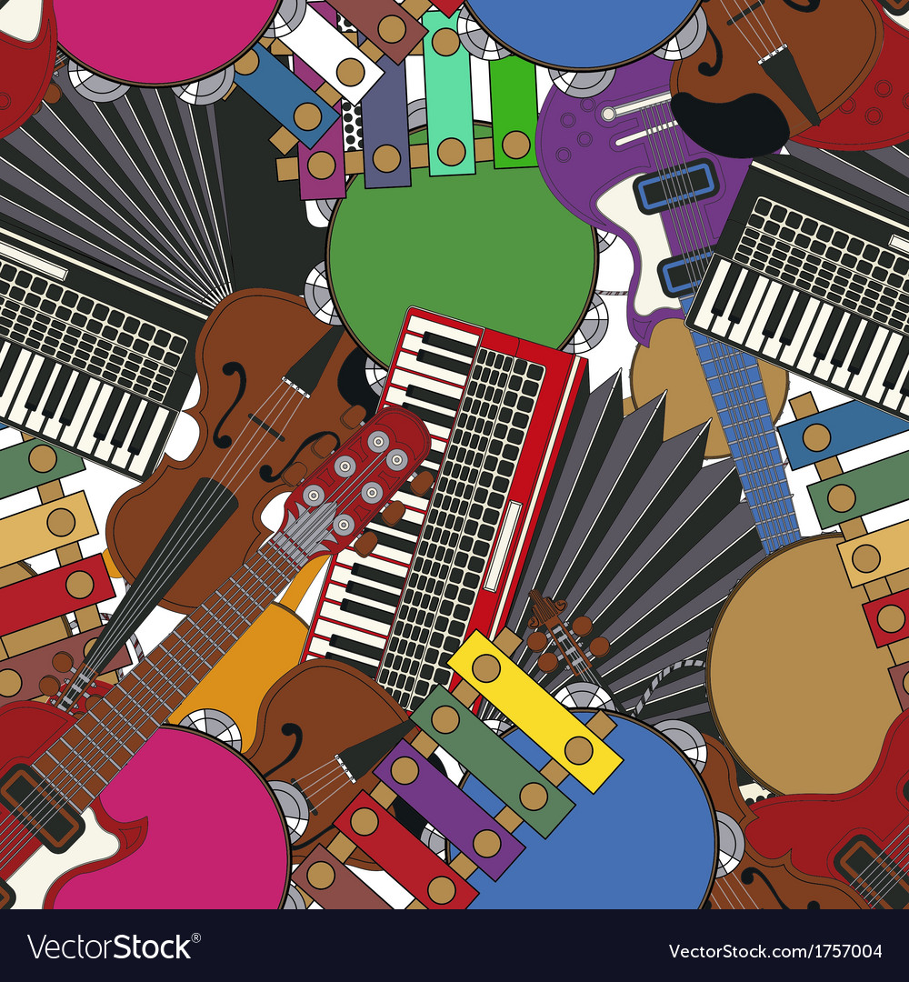 Musical instruments tile vector | Price: 1 Credit (USD $1)
