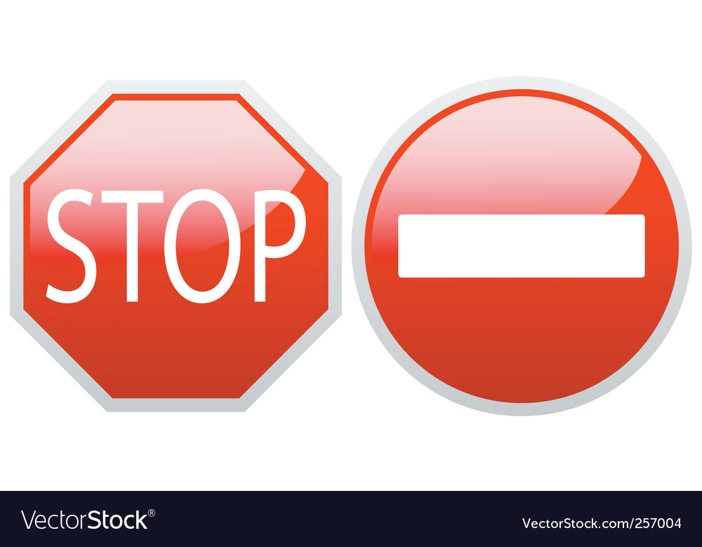 No entry and stop vector | Price: 1 Credit (USD $1)