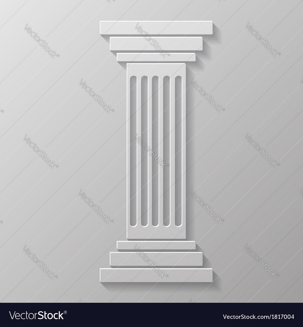 Old column vector | Price: 1 Credit (USD $1)