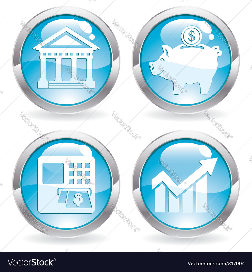 Set business buttons vector | Price: 1 Credit (USD $1)