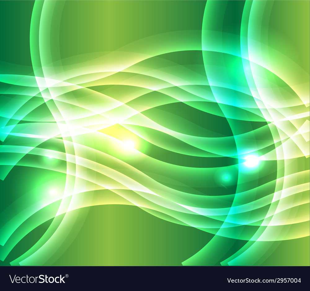 Waves of light green background vector | Price: 1 Credit (USD $1)