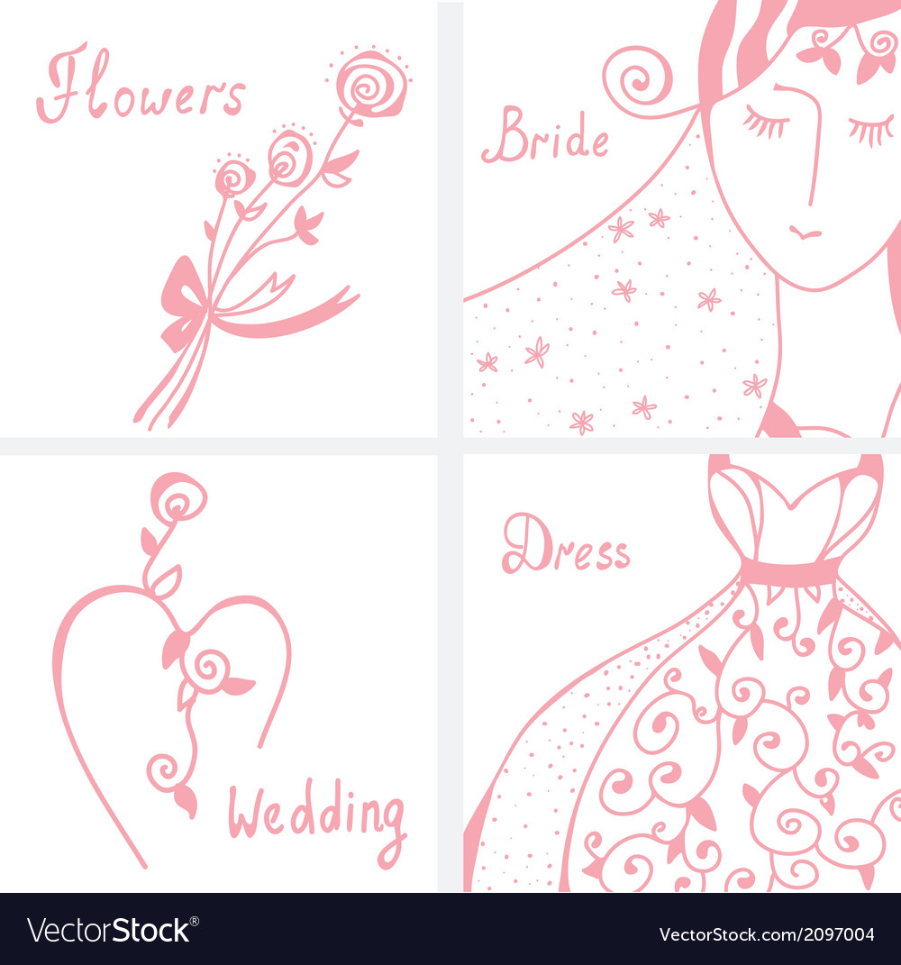Wedding invitation design elements vector | Price: 1 Credit (USD $1)
