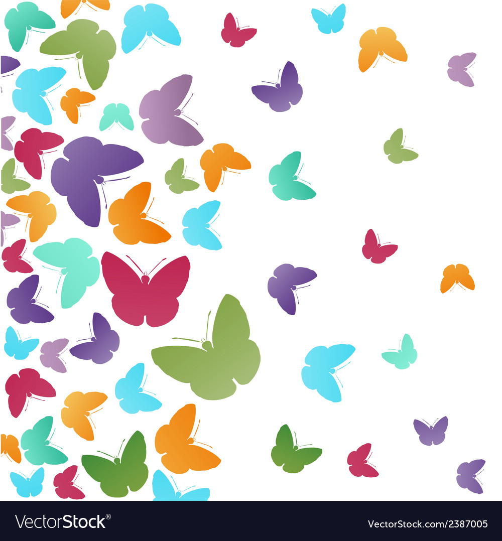 Abstract butterflies background vector | Price: 1 Credit (USD $1)