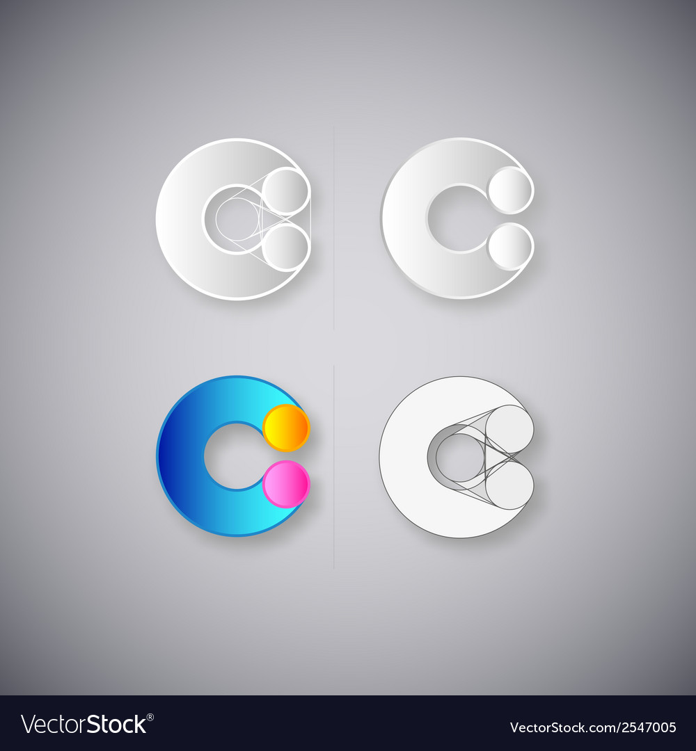 Abstract combination of letter c vector | Price: 1 Credit (USD $1)