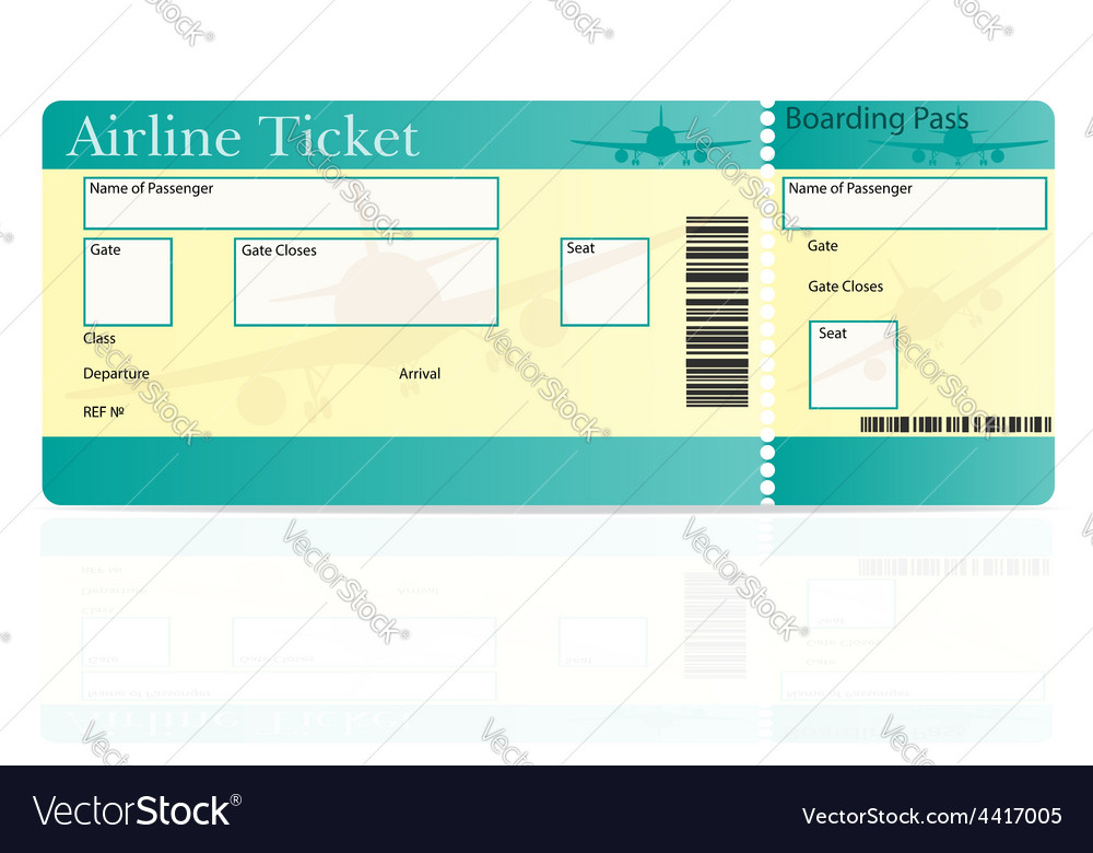 Airline ticket 01 vector | Price: 1 Credit (USD $1)