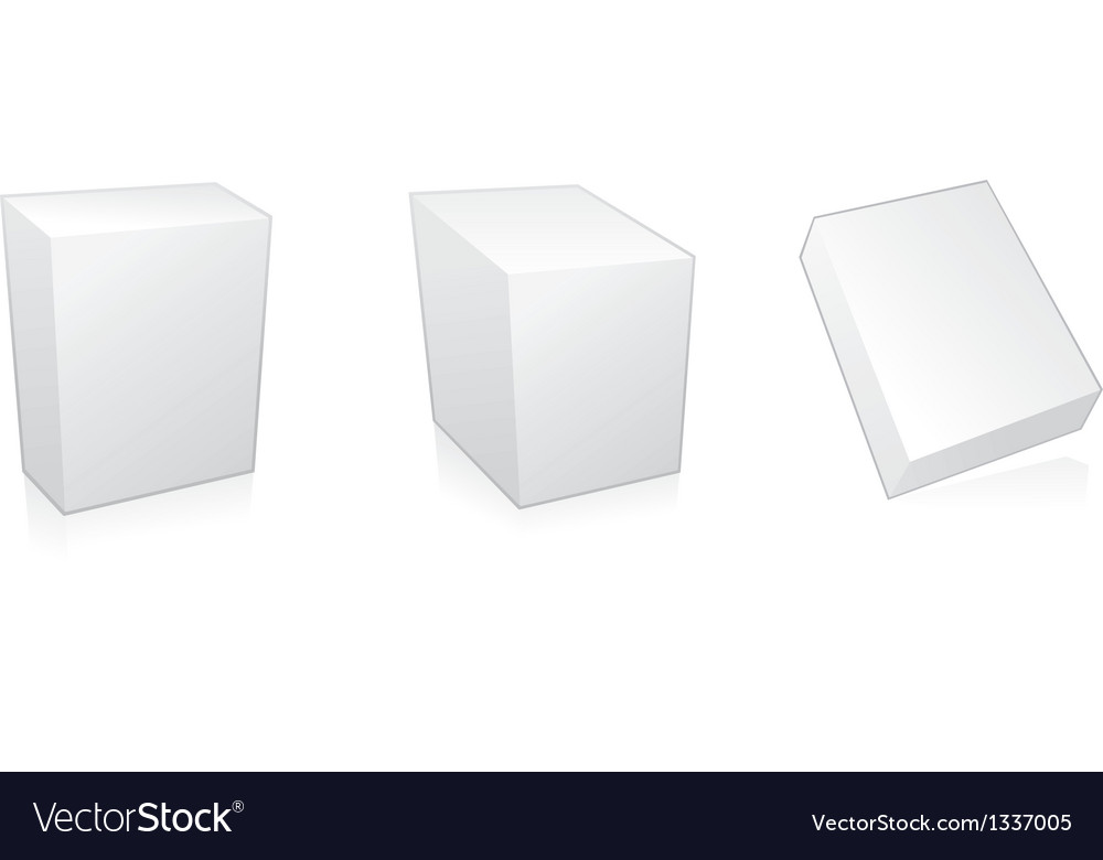 Blank 3d boxes vector | Price: 1 Credit (USD $1)