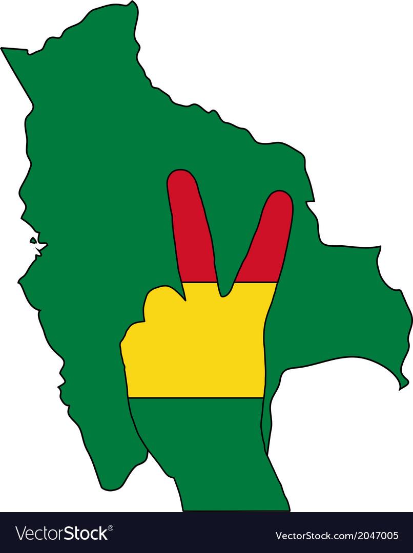 Bolivia hand signal vector | Price: 1 Credit (USD $1)