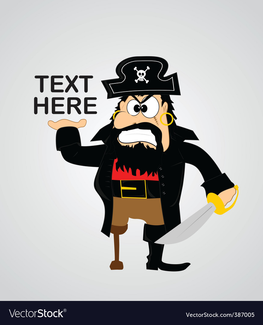 Cartoon pirate vector | Price: 1 Credit (USD $1)