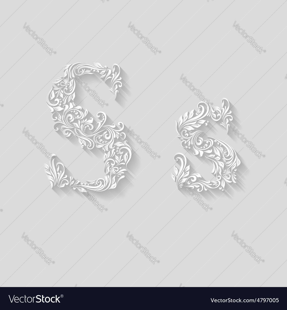 Decorated letter s vector | Price: 1 Credit (USD $1)